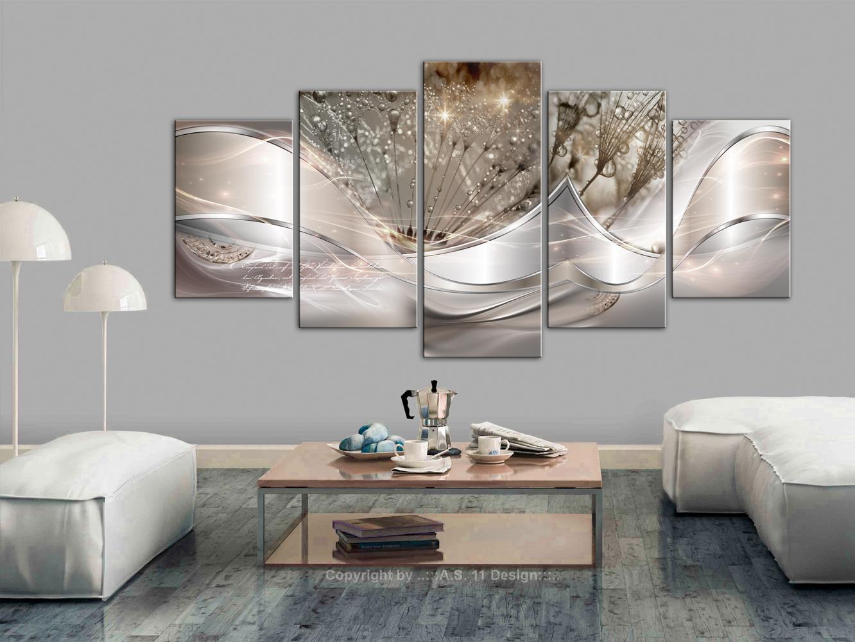 wandbilder xxl pusteblume abstrakt leinwand bild wohnzimmer design a c 0087 b n ebay. Black Bedroom Furniture Sets. Home Design Ideas