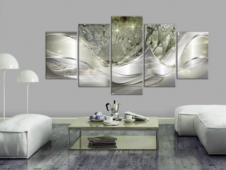 Wandbilder xxl pusteblume abstrakt leinwand bild for Wandbilder wohnzimmer abstrakt