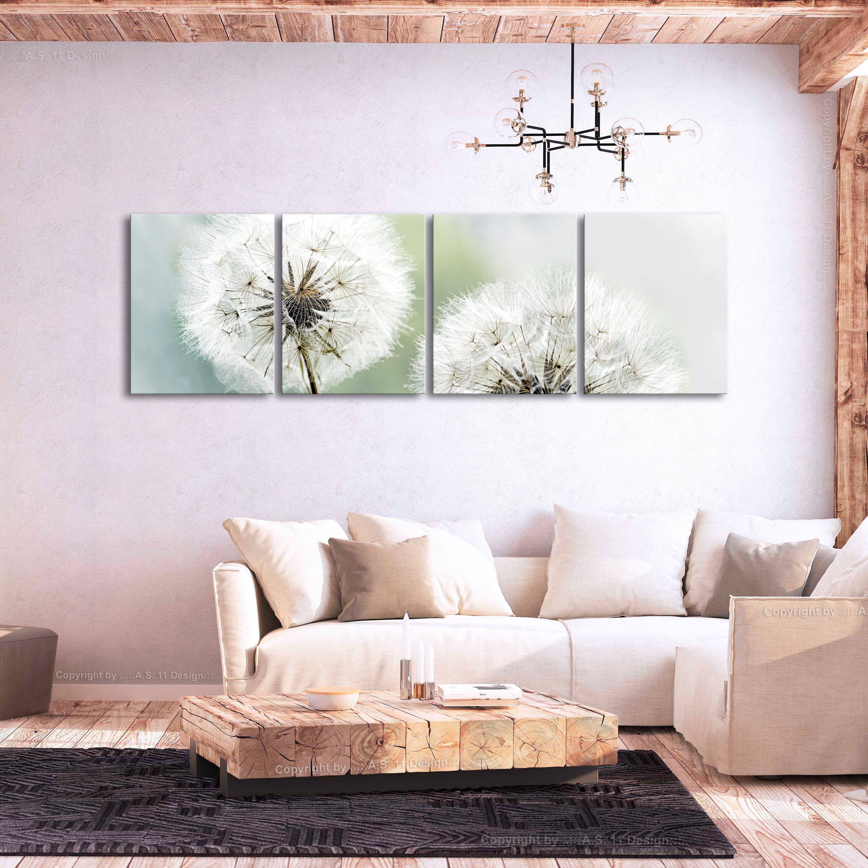 wandbilder xxl pusteblume natur blume leinwand bilder wohnzimmer b b 0262 b j ebay. Black Bedroom Furniture Sets. Home Design Ideas