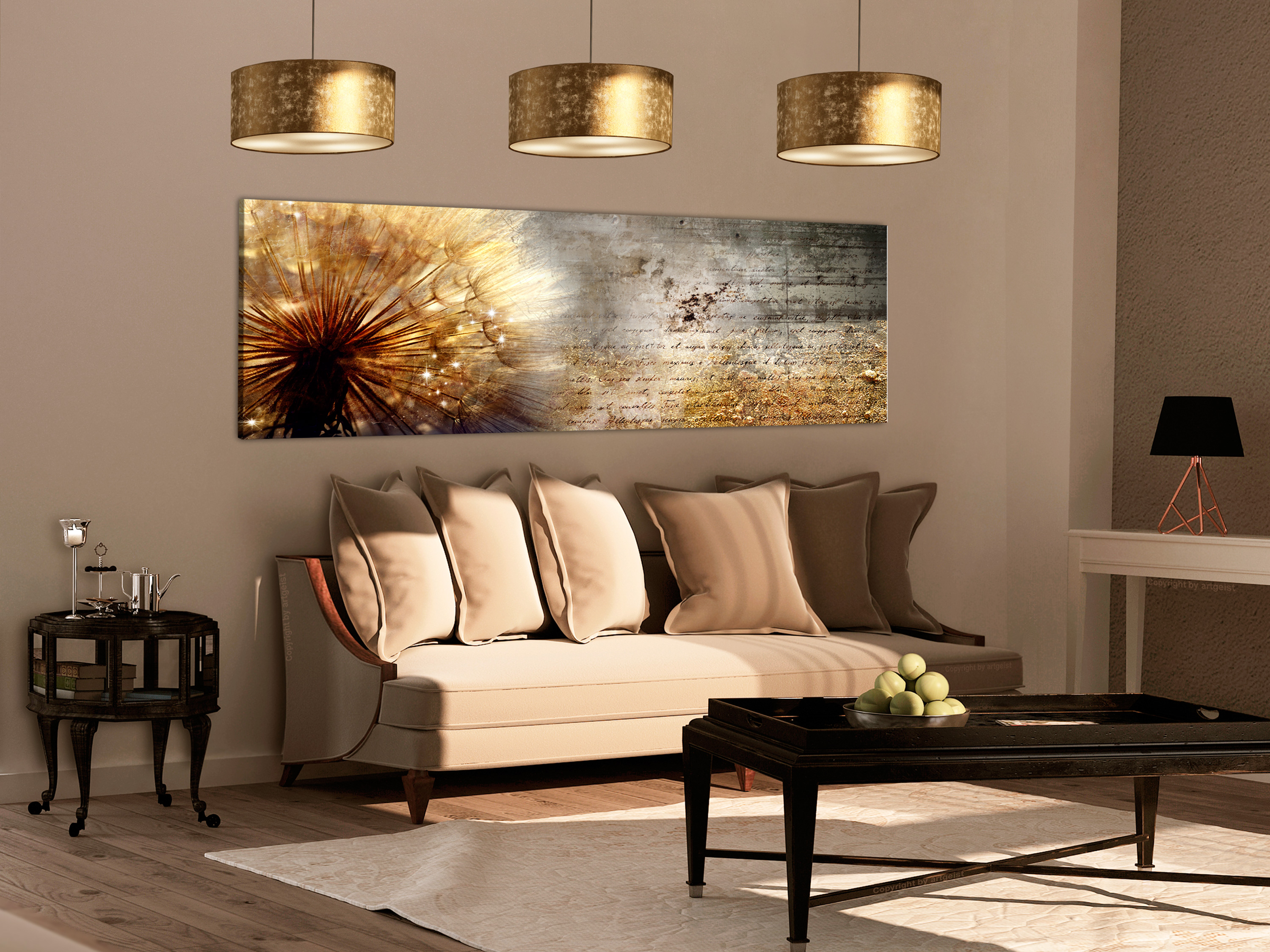 wandbilder xxl pusteblume abstrakt natur leinwand bilder. Black Bedroom Furniture Sets. Home Design Ideas