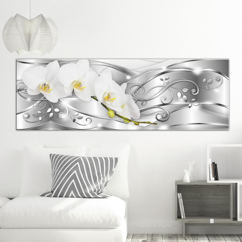 Wandbilder xxl blumen orchidee abstrakte leinwandbilder for Wohnzimmer leinwandbilder