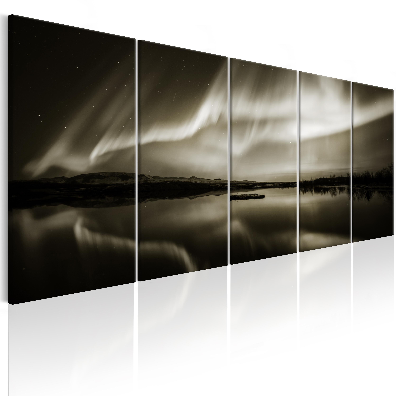 wandbilder xxl wohnzimmer leinwand bilder xxl polarlicht nordlicht c b 0289 b n ebay. Black Bedroom Furniture Sets. Home Design Ideas