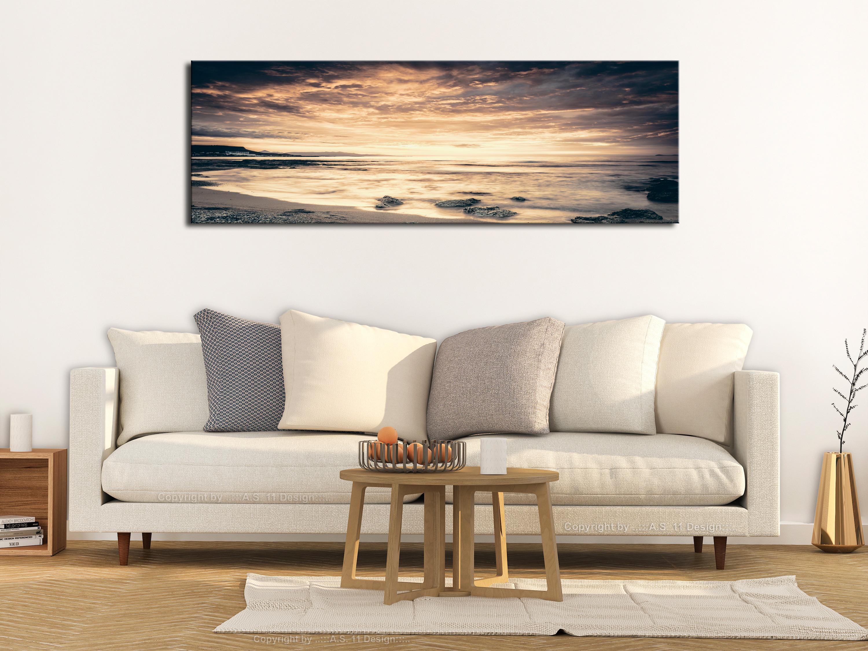 wandbilder xxl meer landschaft ausblick leinwand bilder wohnzimmer c b 0382 b b ebay. Black Bedroom Furniture Sets. Home Design Ideas
