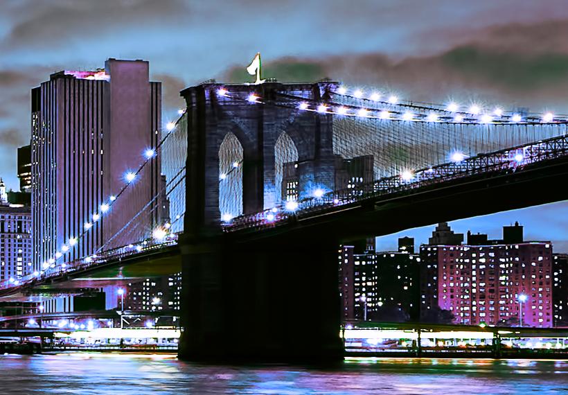 leinwand bilder xxl fertig aufgespannt bild new york stadt nacht d b 0085 b b ebay. Black Bedroom Furniture Sets. Home Design Ideas