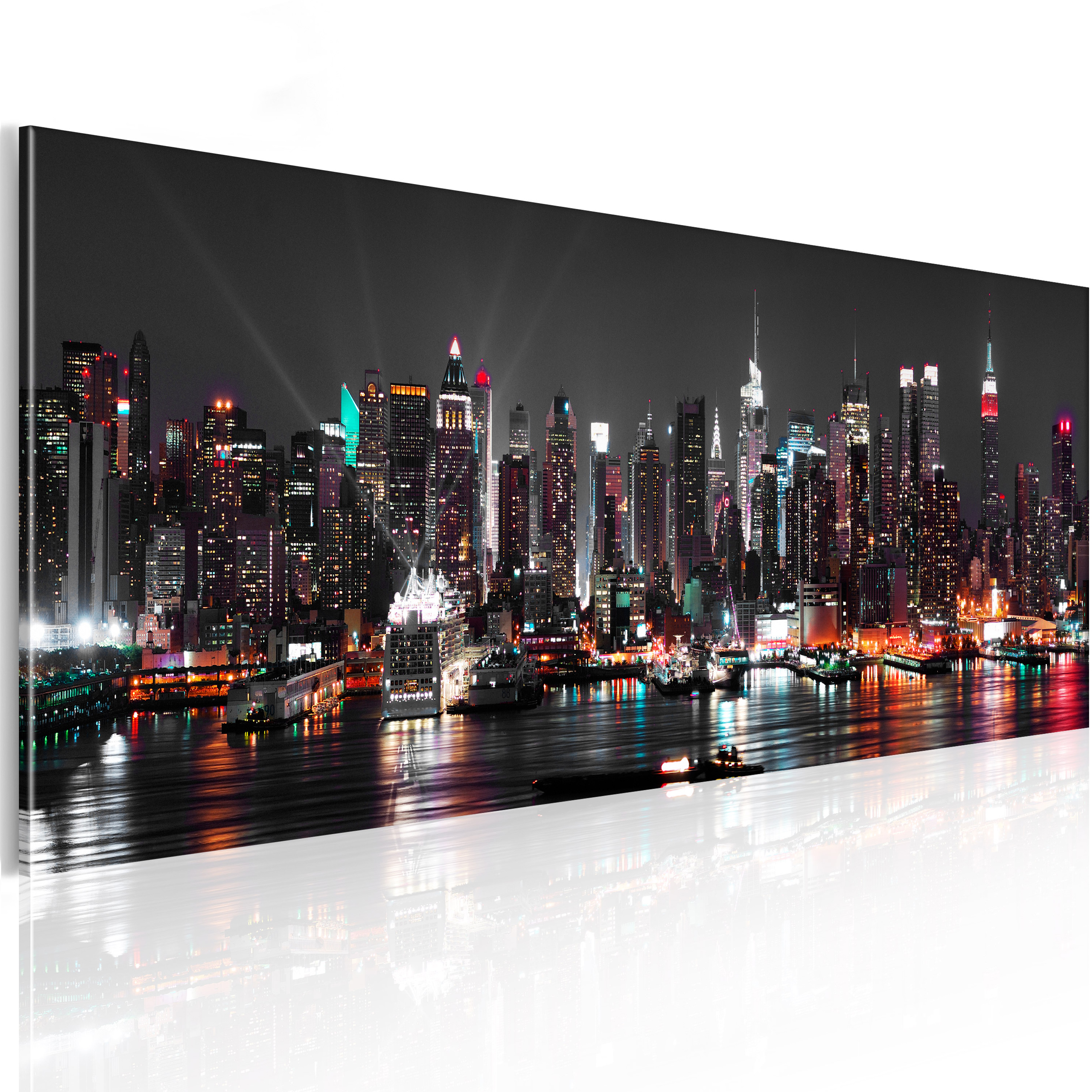 wandbilder xxl new york skyline stadt leinwand bilder wohnzimmer d b 0087 b a ebay. Black Bedroom Furniture Sets. Home Design Ideas