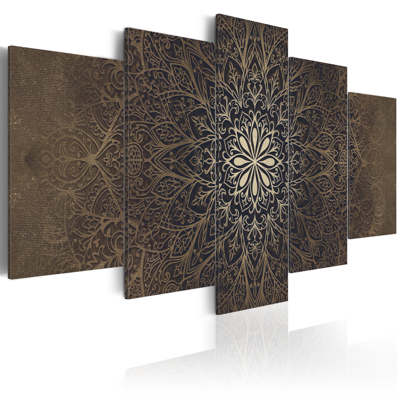 Quadro su Tela TNT Stampe Immagini Murale Mandala Zen Spa f-A-0515-b-n