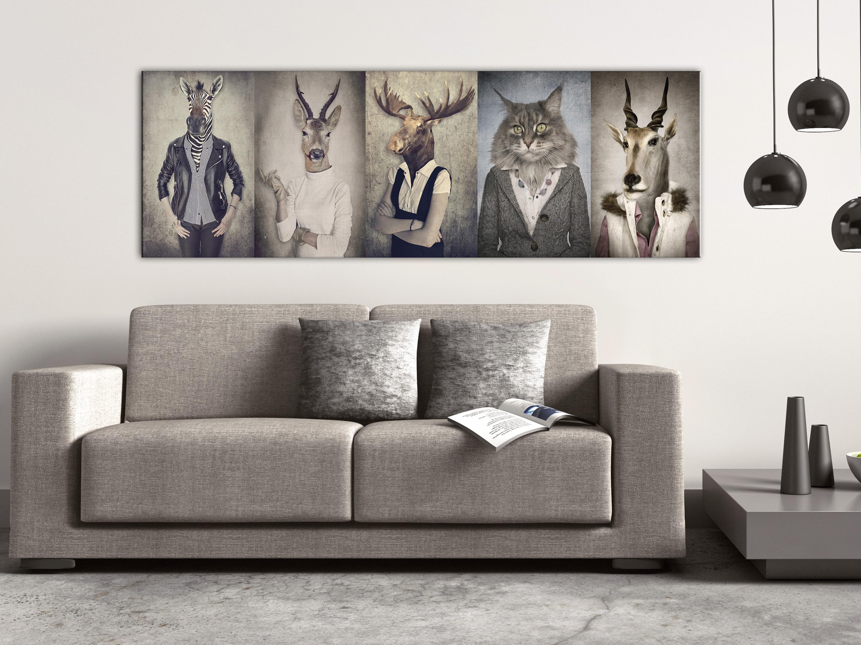 WANDBILDER XXL TIERE Zebra Katze Elch Leinwand Bilder Wohnzimmer g-B ...