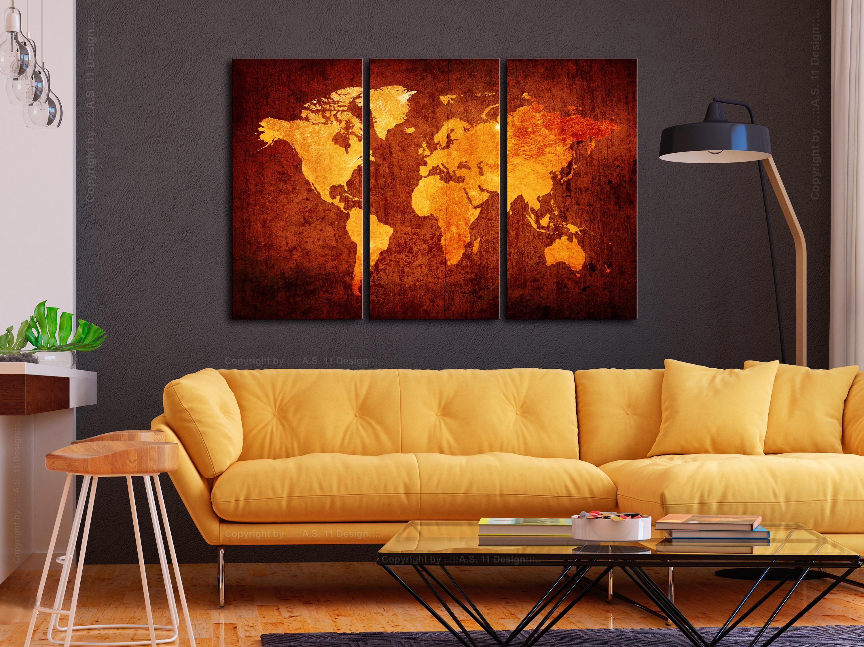 Wandbilder xxl weltkarte landkarte reise leinwand bilder wohnzimmer k a 0337 b f ebay - Leinwand wohnzimmer ...