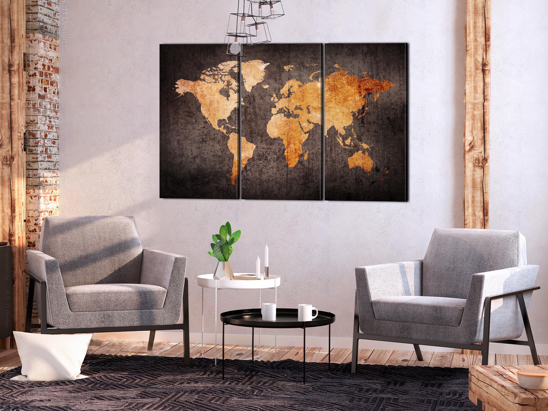 Wandbilder xxl weltkarte landkarte reise leinwand bilder for Wohnzimmer bilder leinwand