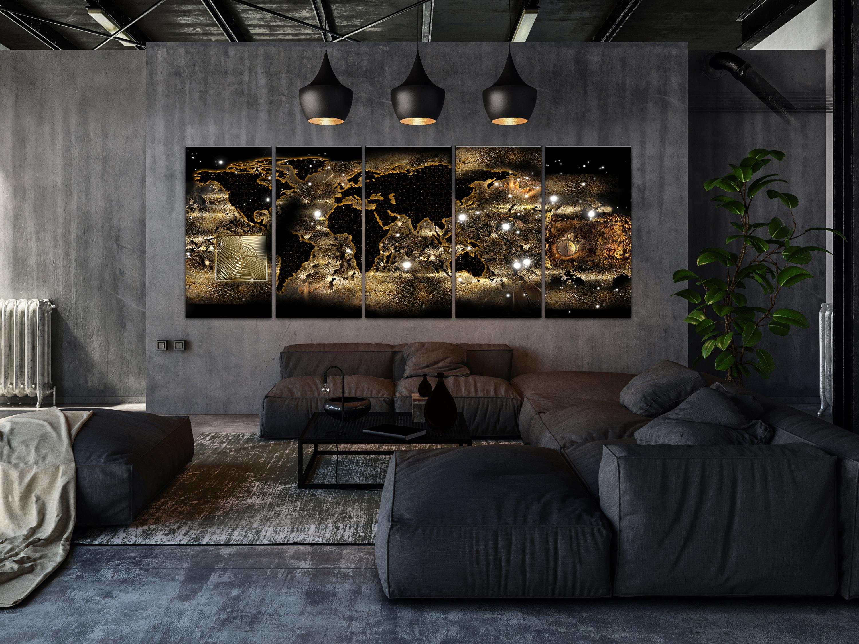 Wandbilder Xxl Weltkarte Landkarte Abstraktes Bilder Wohnzimmer K A 0362 B N