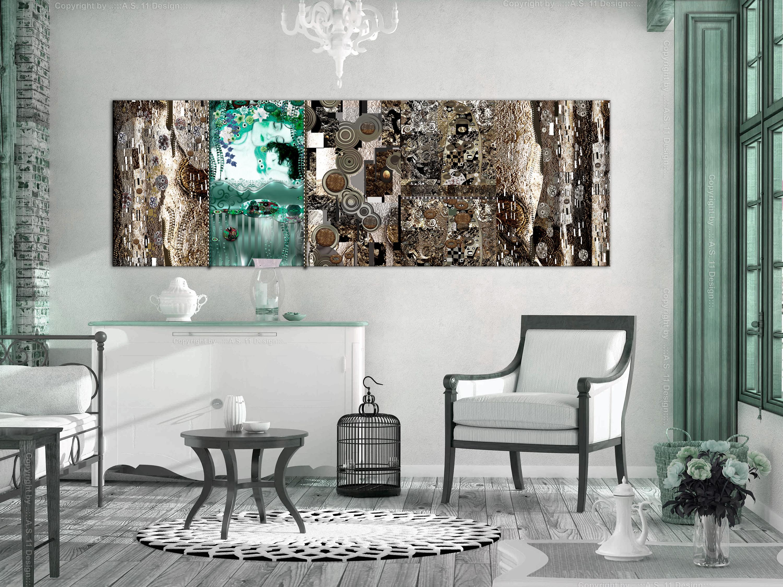 wandbild xxl gustav klimt mutter und kind leinwand bild. Black Bedroom Furniture Sets. Home Design Ideas
