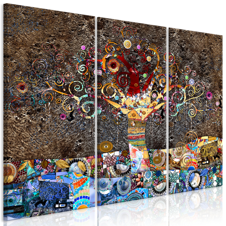Wandbilder xxl Gustav Klimt Baum Vlies Leinwand Bilder Wohnzimmer ...