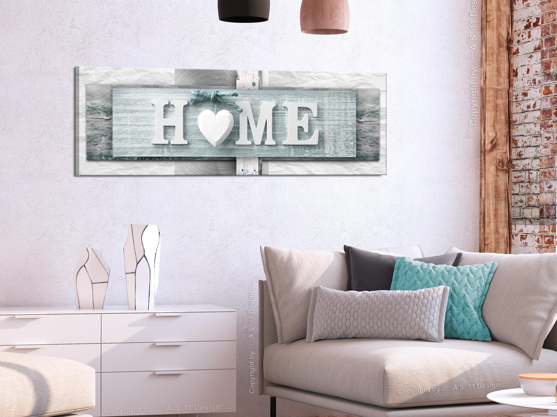 wandbilder xxl home herz holzoptik leinwand bilder wohnzimmer m c 0261 b b ebay. Black Bedroom Furniture Sets. Home Design Ideas