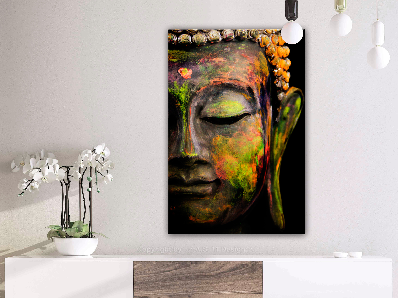 wandbilder xxl buddha zen leinwand bilder wohnzimmer schlafzimmer p b 0017 b b ebay. Black Bedroom Furniture Sets. Home Design Ideas