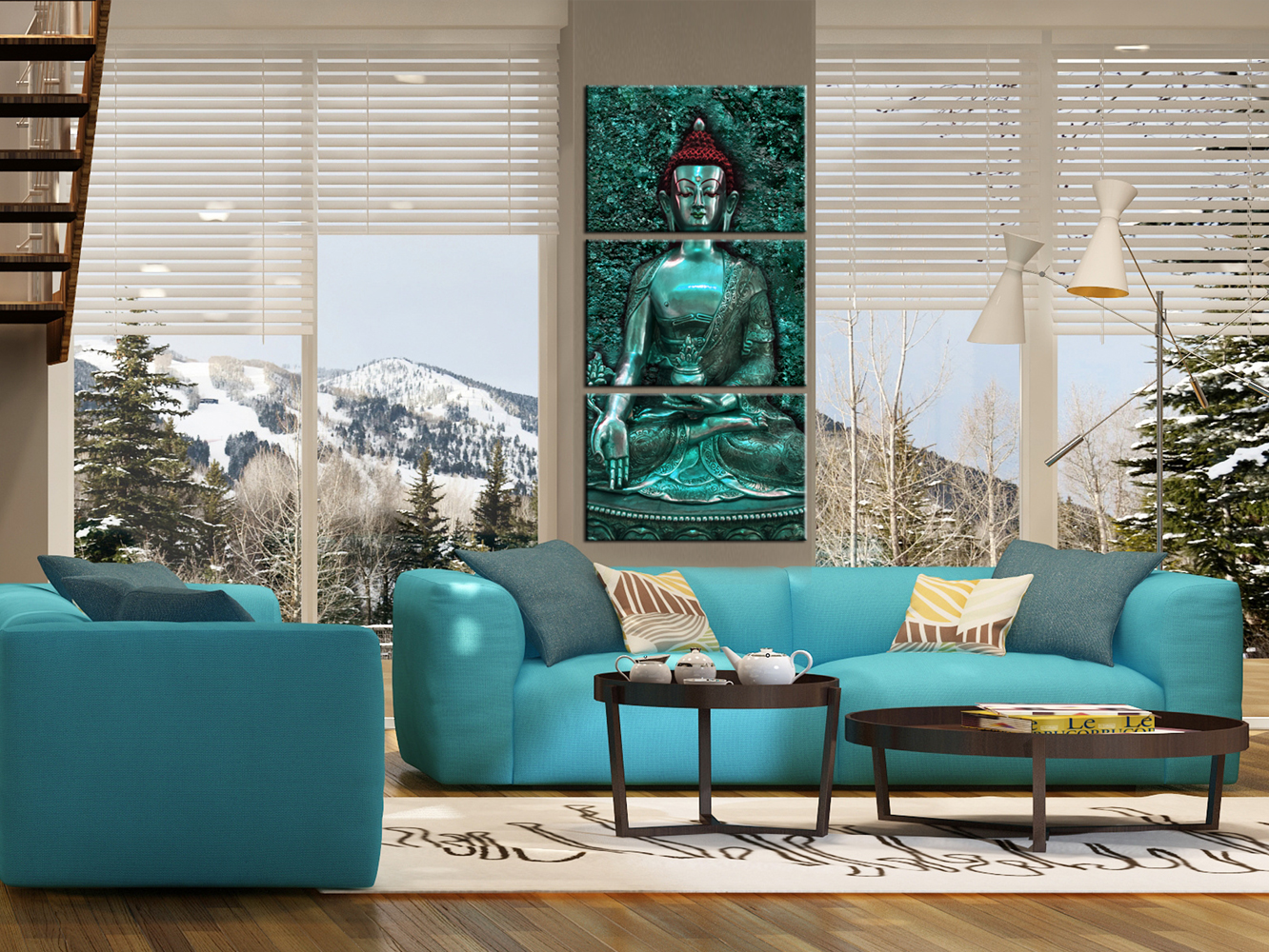 wandbilder xxl buddha bild figur deko bilder leinwand wohnzimmer p c 0006 b f ebay. Black Bedroom Furniture Sets. Home Design Ideas