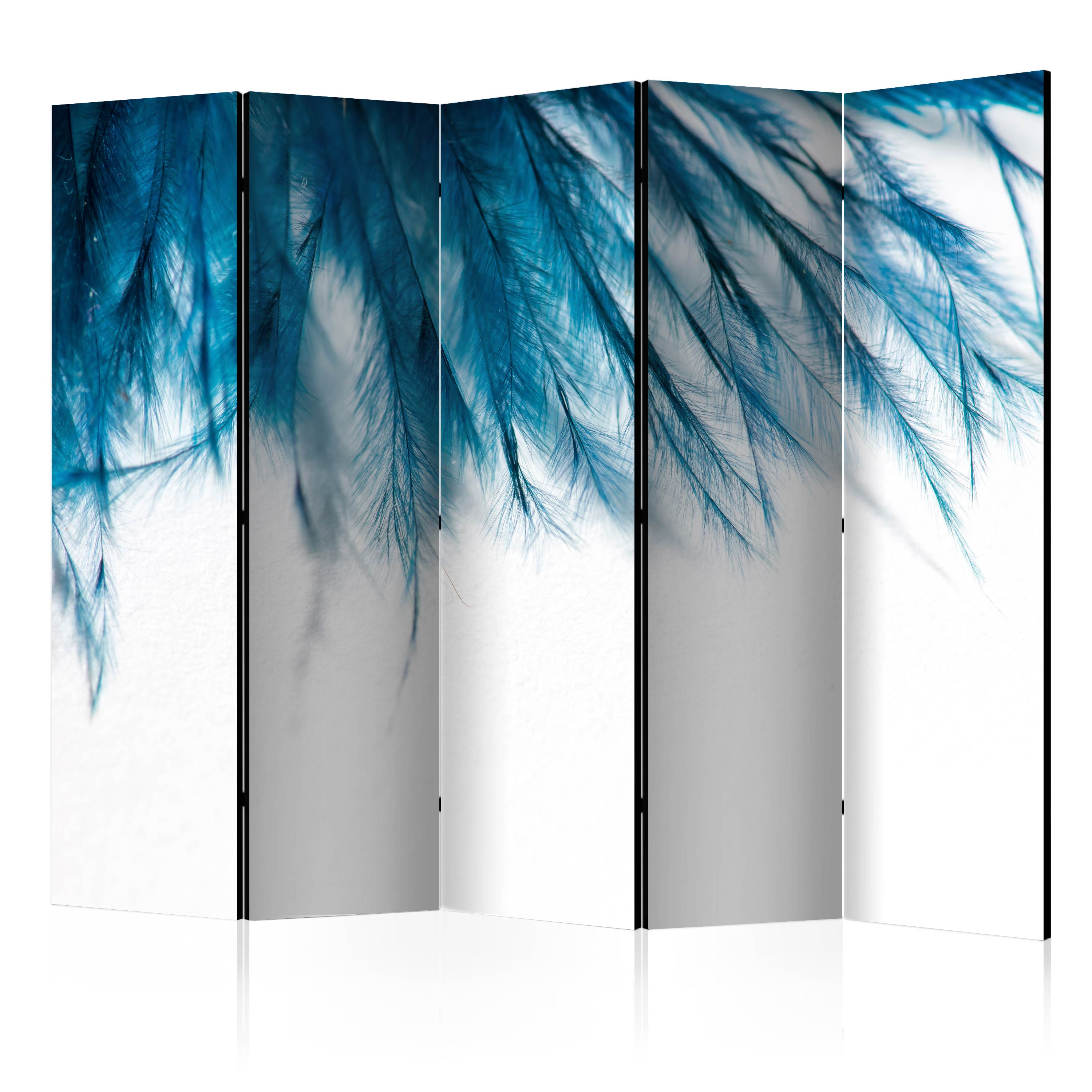 Paravento - Sapphire Feathers II [Room Dividers] 225X172 cm