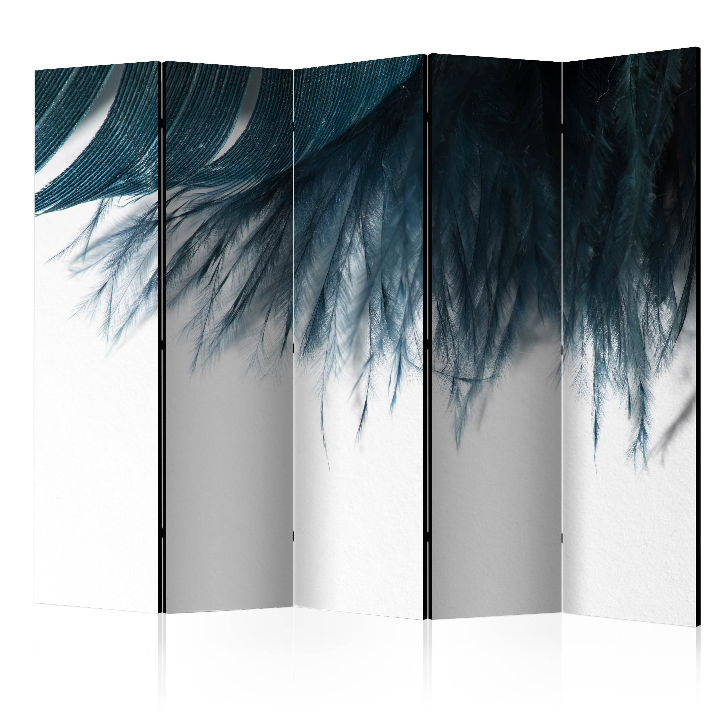 Paravento - Dark Blue Feather II [Room Dividers] 225X172 cm