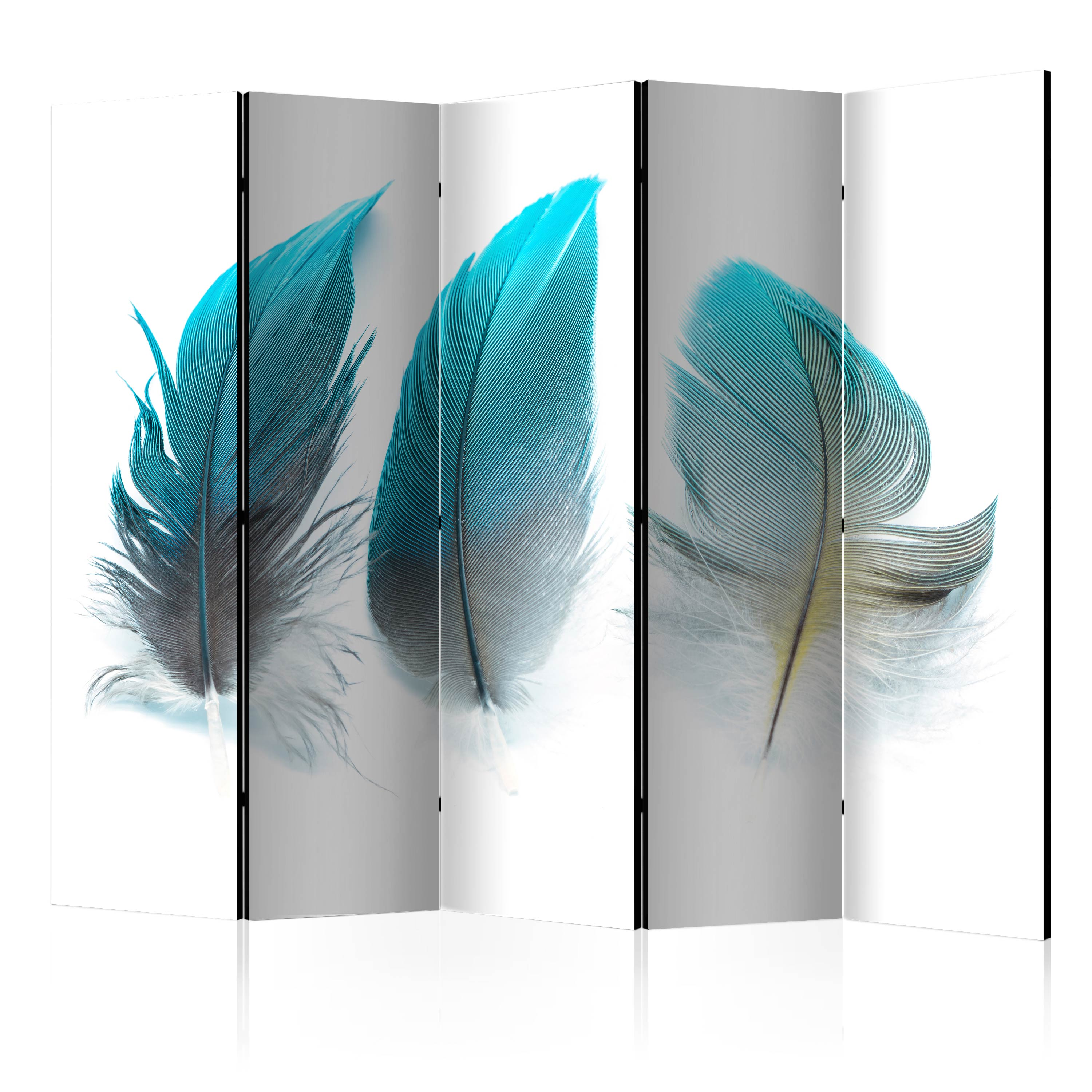 Paravento - Blue Feathers II [Room Dividers] 225X172 cm