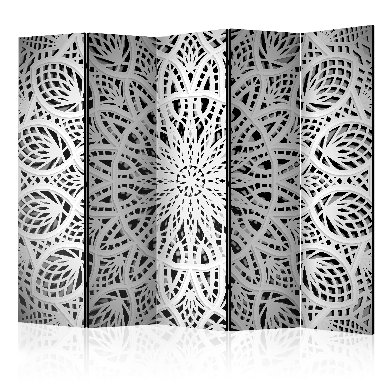 Paravento - White Mandala II [Room Dividers] 225X172 cm