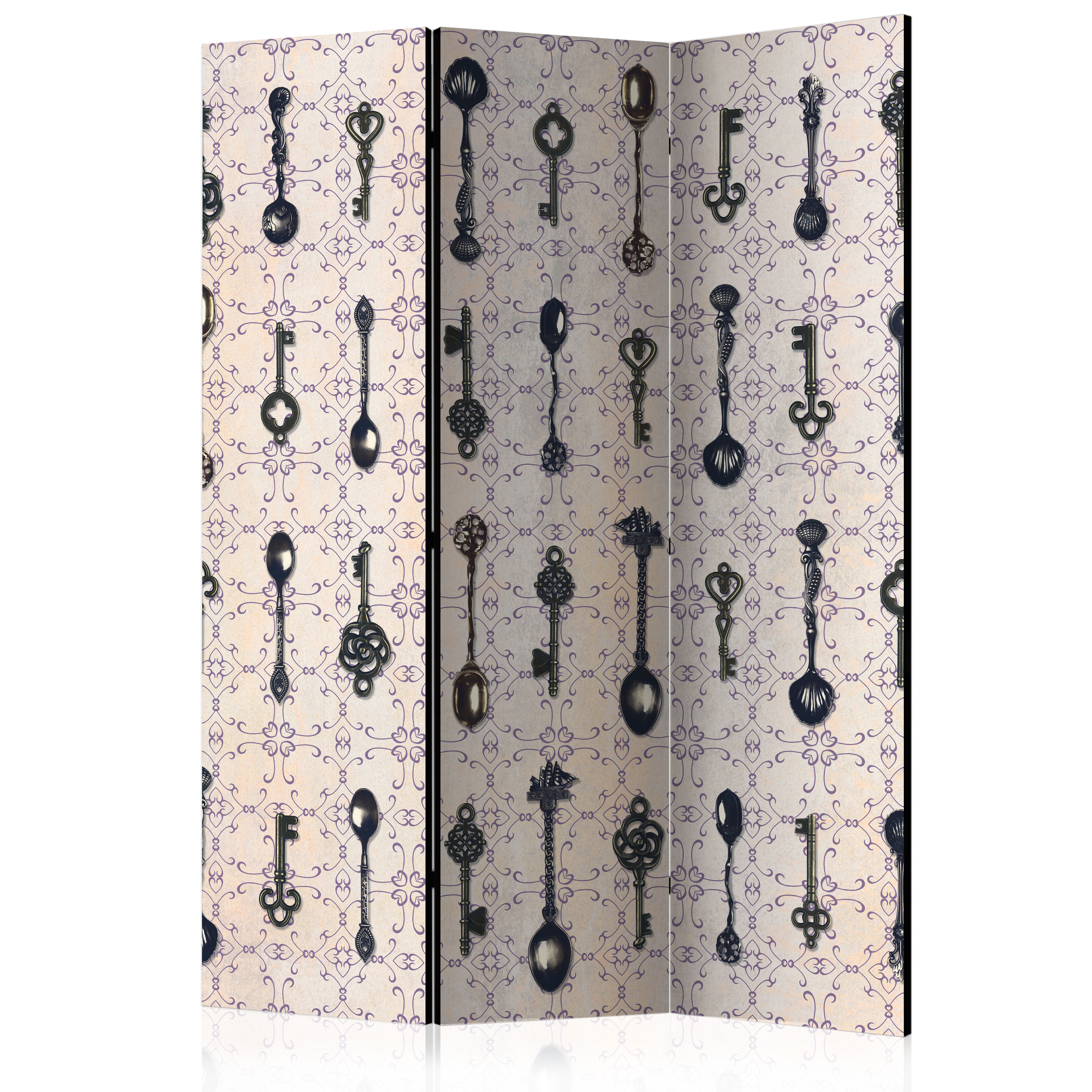 Paravento - Retro Style: Silver Spoons [Room Dividers] 135X172 cm