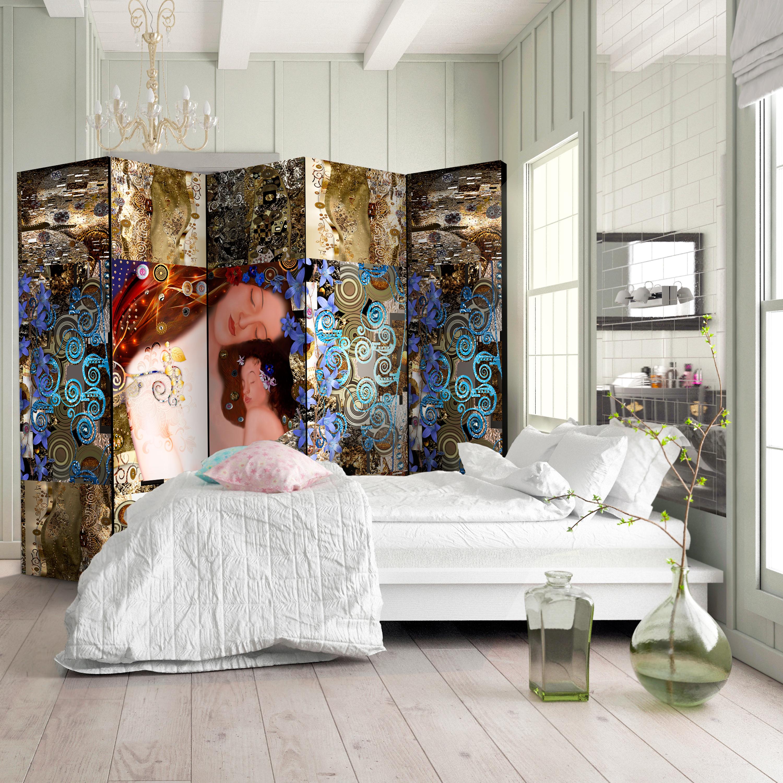 Deko Paravent Raumteiler Trennwand Spanische Wand Gustav Klimt