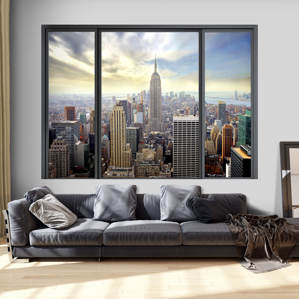 3D WALL ILLUSION WALLPAPER MURAL PHOTO PRINT A HOLE IN THE WALL