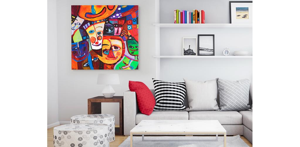 Tableau color festival des couleurs dans votre - Bimago cuadros modernos ...