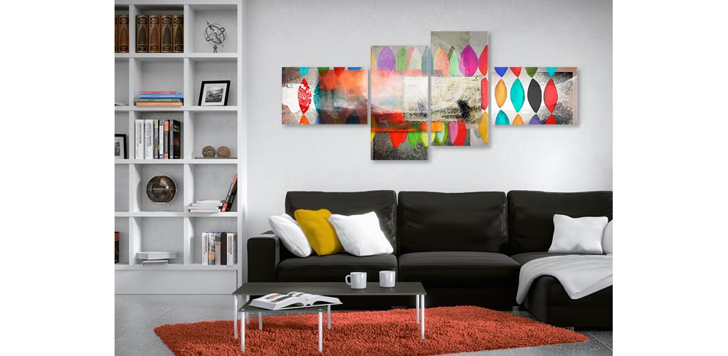 Tableau color festival des couleurs dans votre - Tableau en plusieurs parties ...